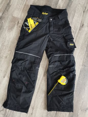 Czarne spodnie codura ocieplane snickers opis