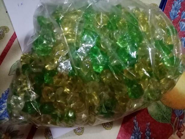 Pedras decorativas - amarelas e verdes