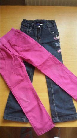 Spodnie dziewczęce 2 pary rozm 110