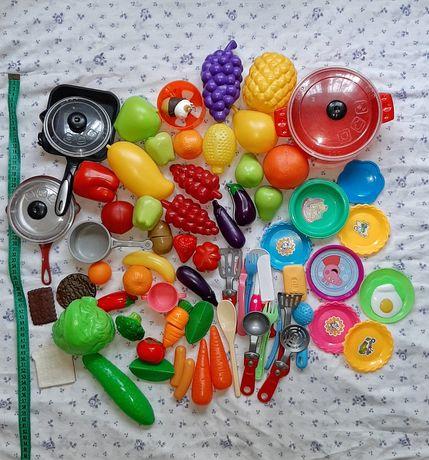 Іграшковий посуд овочі фрукти лот іграшок дитяча кухня