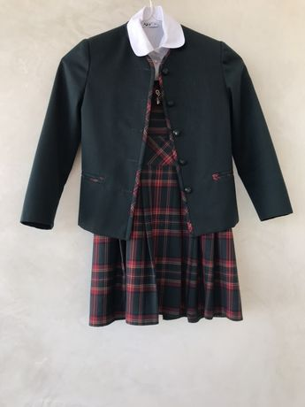 Школьная форма, одежда для школы, сарафан, пиджак, блузка, рубашка