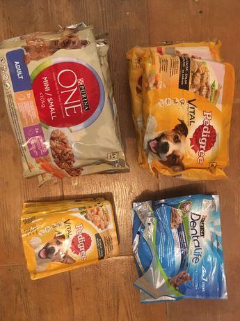 Saquetas comida cão pedigree purina