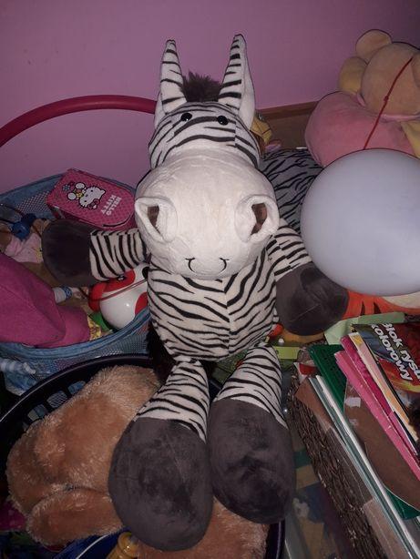 Pluszowa duza zebra