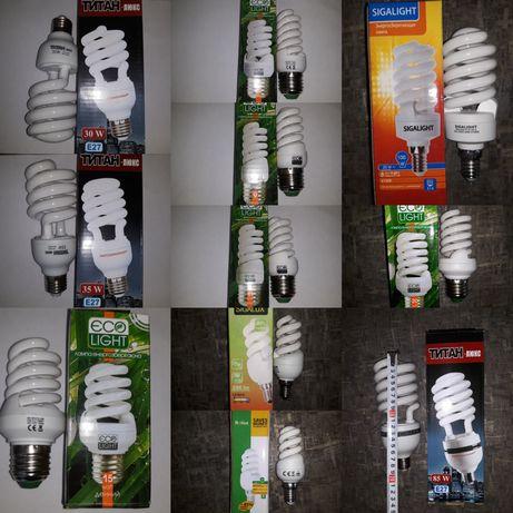 Лампа экономная,газовая,спиральная,экономка,энергосберегающая,лампочка