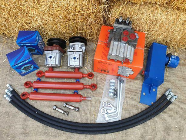Гидравлика мини-трактор мото-блок (насос НШ-10 правый, привод шкив Б)