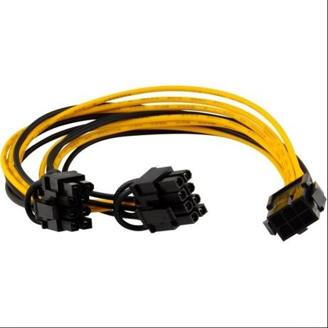 Переходник питания 6 pin to 2x8 pin PCI-E для видеокарт.