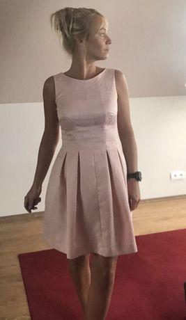 Sukienka pudrowy róż 38