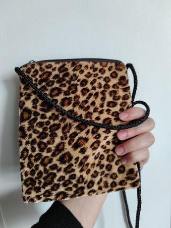 леопардовый кошелёк сумочка на шнурочке