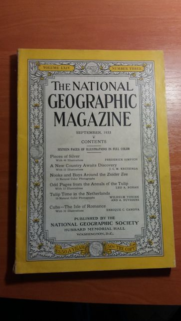 National Geographic September 1933