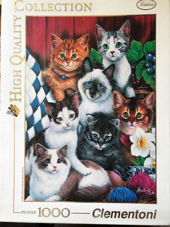 Пазлы с котятами Clementoni 1000 штук