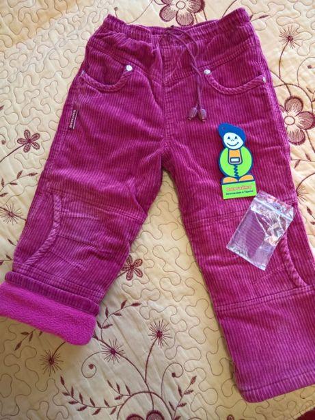 Штани зимові вельветові (на флісі) Одягайко 92 розмір