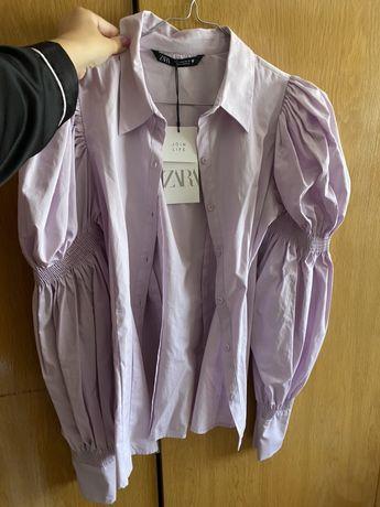 Camisa lilás Zara 100% algodão