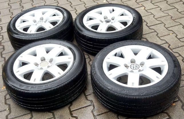 / VW / Oryginał / 4 Koła / Felgi Aluminiowe / Opony Lato / 16'' /