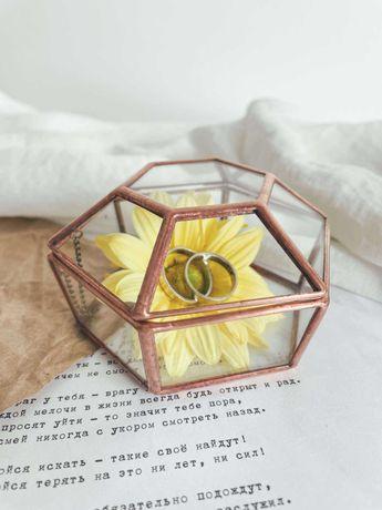 Шкатулка колец обручальных свадебный декор кольцо ,казна для конвертов