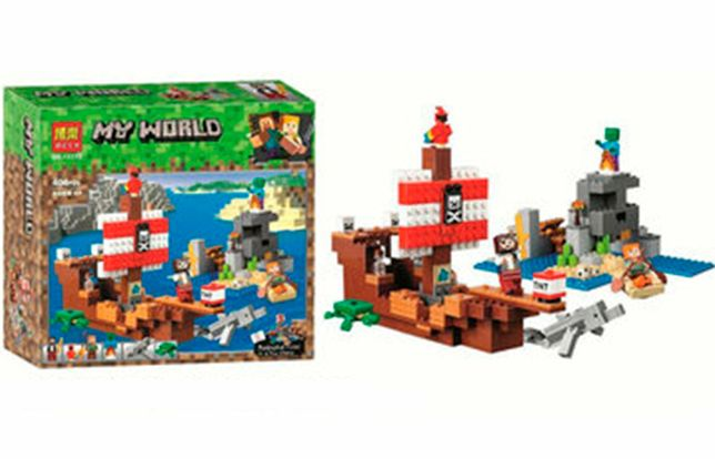 """Конструктор Bela Minecraft 11170 """"Приключения на корабле"""", 404 д, лего"""
