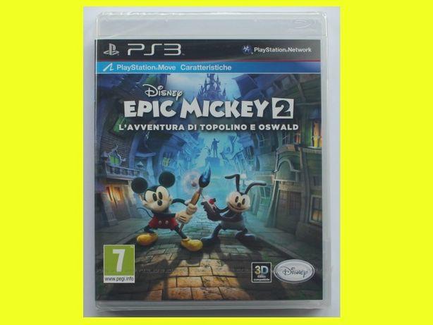 #folia# Epic Mickey 2 Siła Dwóch PS3 move dla 2 graczy!!
