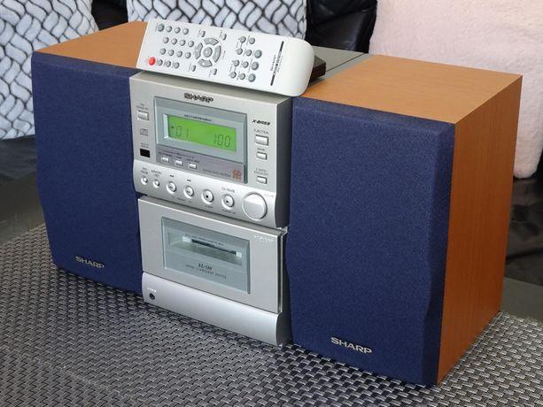 Mini Wieża SHARP XL-510 +Pilot - Kaseta CD Radio - Jak Nowa!!!
