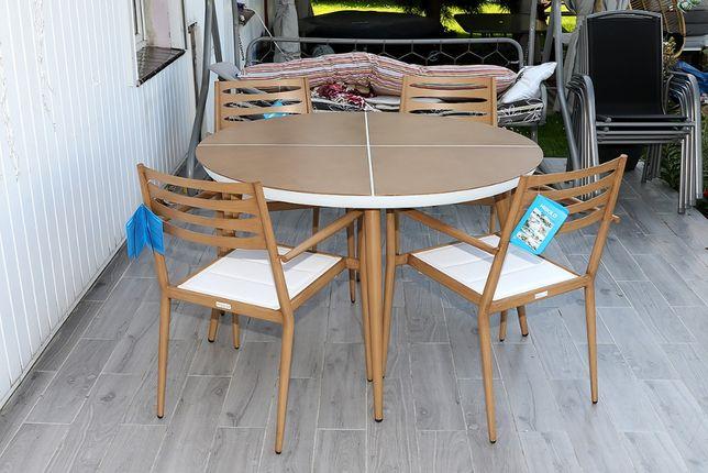 Meble ogrodowe Higold stół 120cm + 4 krzesła