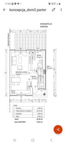 Dom 80m2 z oddzielnym garażem