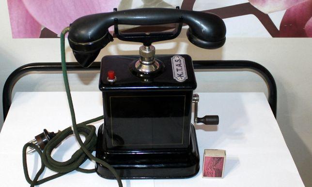 Antyczny bakelitowy telefon Duńskiej firmy K.T.A.S