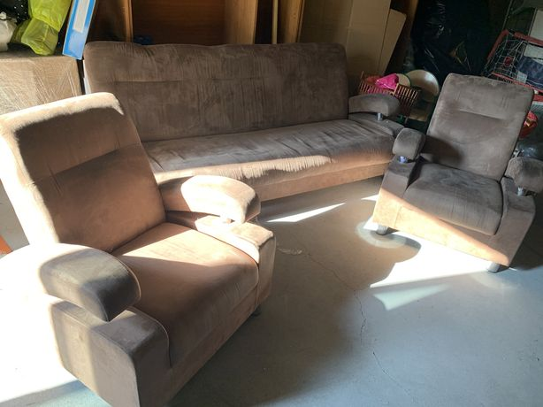 Zestaw 2 fotele plus tapczan fotel tapczan
