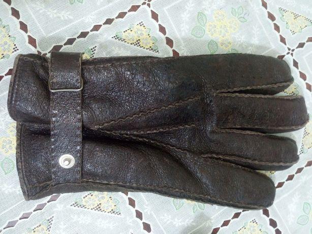 Перчатки мужские из оленьей кожи на натуральном козьем меху