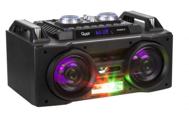 NOWY przenośny aktywny zestaw DJ marki Quer z światełkami RGB, fun