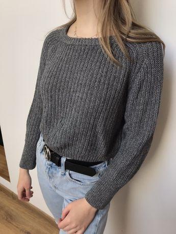 Sweter crop top szary melanż American Apparel M