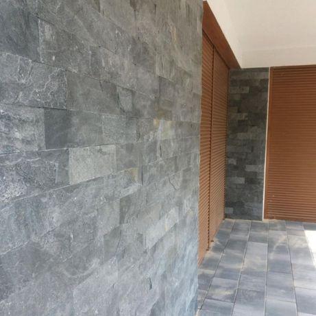 Płytki Kwarcyt Kamień Elewacja Silver Grey naturalny 10x30x0,8-1,3 cm