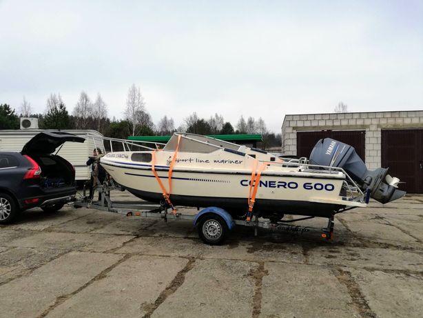 Łódź motorowa kabinowa wędkarska łódka YamahaF115