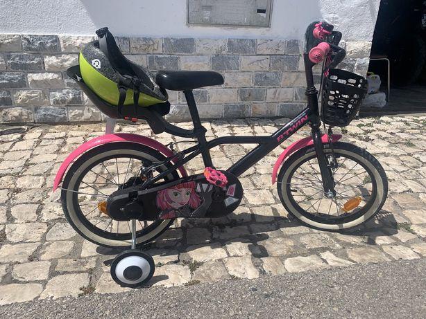 Bicicleta para criança de menina