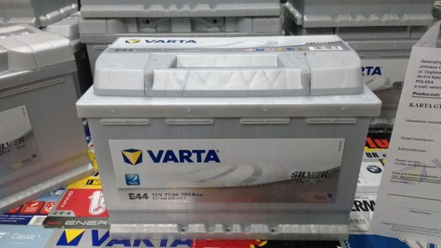 Akumulator Varta Silver 12V 77Ah 780A E44 P+ dowóz montaż Kraków Azory