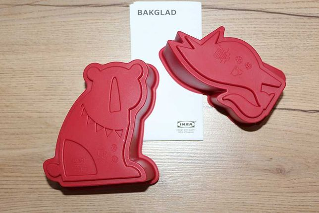 BAKGLAD силіконові форми для випічки, Ikea, Швеція / силиконовые формы