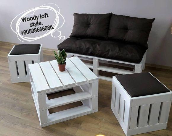 Лофт мебель, диваны в кафе, столы в ресторан, мебель для кальянных