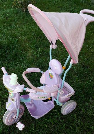 Rowerek dziecięcy trójkołowy dla dziewczynki