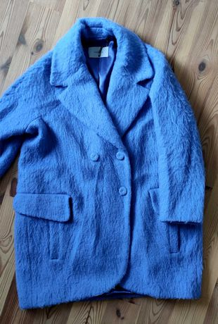 Wełniano moherowy płaszcz Marella roz. 40