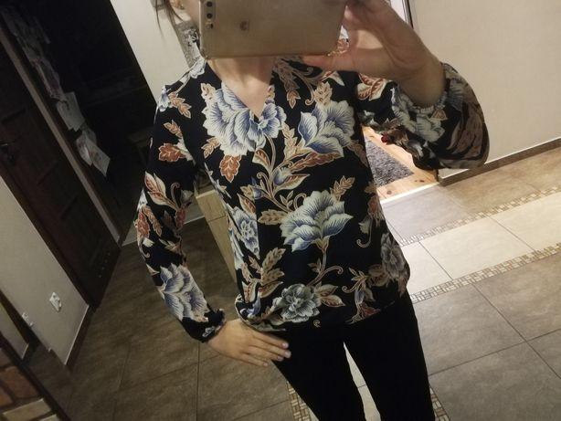 Bluzka koszula kopertowa wzory kwiaty George s 36