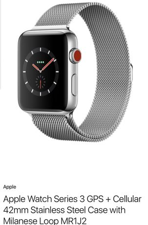 Apple Watch Series 3 GPS + Cellular 42mm Stainless Steel Case with Mil