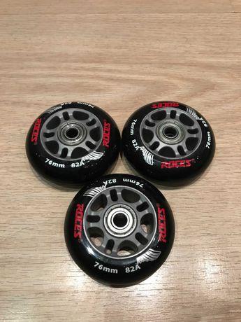 Колеса для роликов 76  мм 85A 3 шт Б/У, цена за 3 шт 180 гр