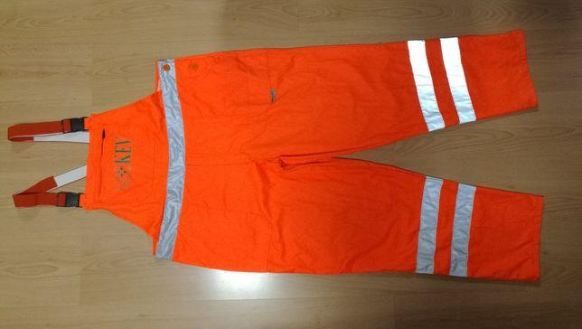 Spodnie na szelkach WATEX roz.60 XL/XXL , ostrzegawcze , ogrodniczki