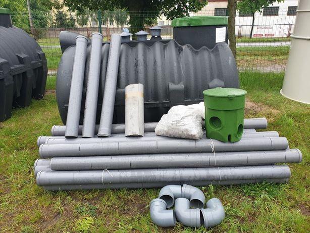 Oczyszczalnia ścieków ekologiczna szambo 2000l + 48mb drenaż PROMOCJA