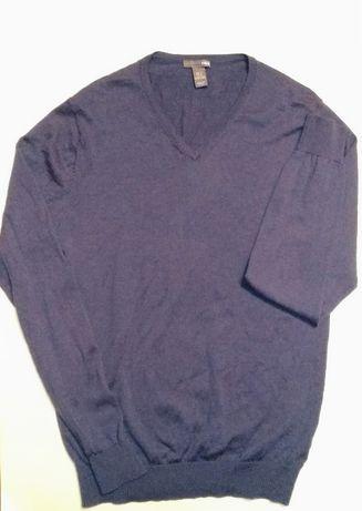 H&M джемпер реглан мужской свитер мериносовая шерсть
