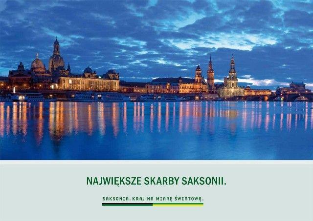 album ,,Największe skarby Saksonii'' + mapa turystyczna atrakcje