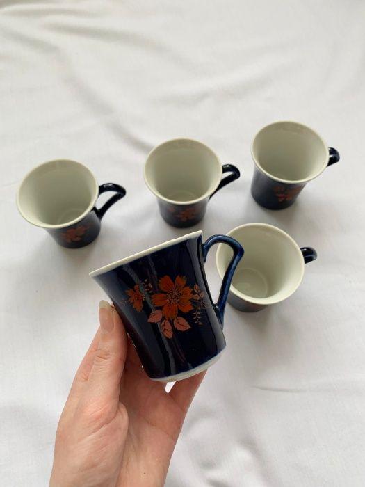 Кофейный сервиз, 5 персон, кавовий сервіз, чашки, кружки