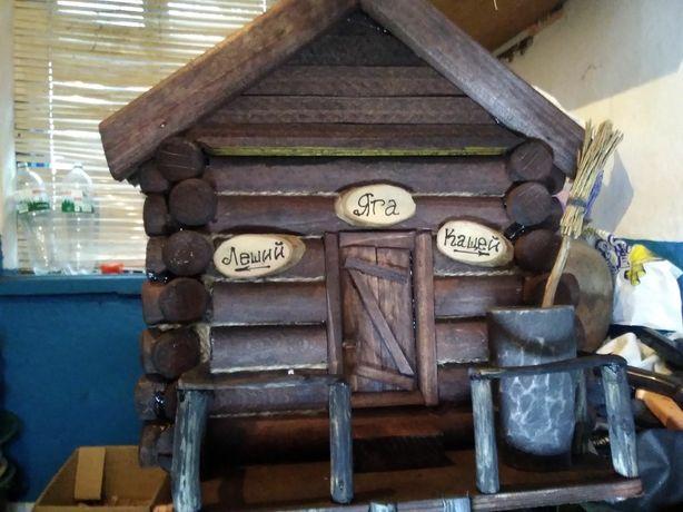 Деревянный домик, сказочный домик