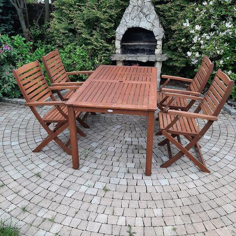 Meble ogrodowe stół + 4 krzesła