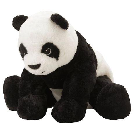 Плюшевая панда 30 см IKEA детская мягкая игрушка медведь