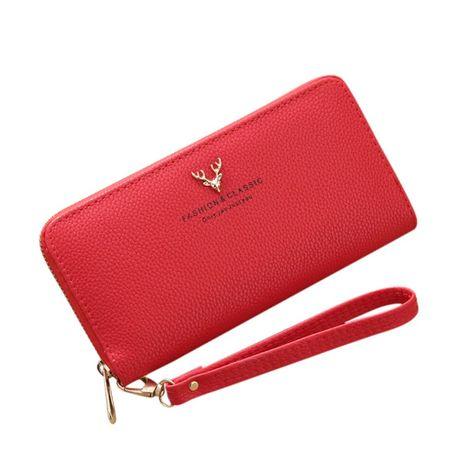 Na prezent!!! Elegancki Czerwony portfel NOWY!!!