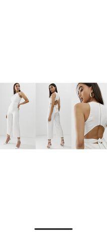 Fashion Union Biały elegancki kombinezon rozmiar M / 38 #białykombinez
