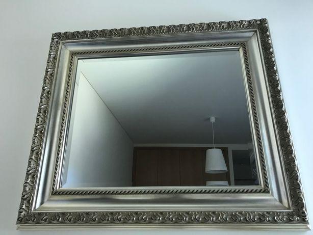 Espelho talha prateada 1m x 86 cm